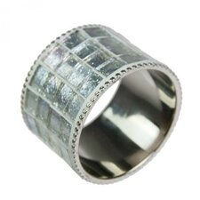 Napkin Ring with Iridescent Glass Inlay (Set of 6)