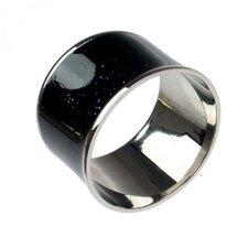 Brass and Enamel Napkin Ring (Set of 5)