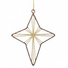 Star Glittered Wire Hanging Figurine (Set of 6)