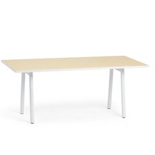 Rectangular White Leg Conference Table