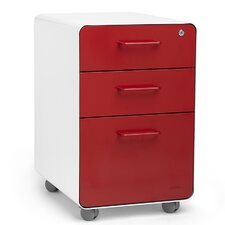 3-Drawer Mobile Fully Loaded File Cabinet