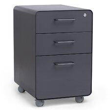 3-Drawer Mobile Fully Loaded File Cabinet