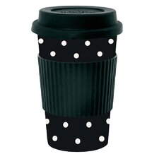 Dots Bamboo Melamine Travel Mug