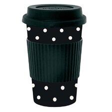 Dots Bamboo Melamine Travel Mug