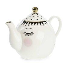 Eyes and Dots Ceramic Teapot