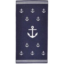 Anchor Terry Turkish Cotton Beach Towel