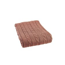 Luxury Cotton Cable Knit Throw Blanket