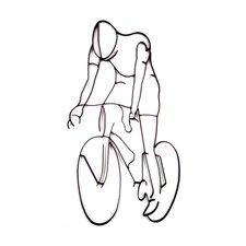 Bicyclist Design Wall Décor
