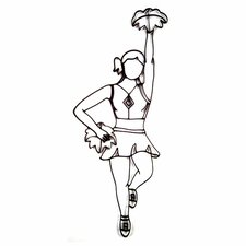 Cheerleader Design Wall Décor