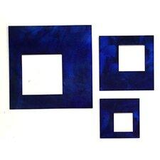 3 Piece Artisan Contemporary Squares Wall Décor Set