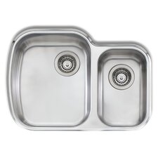 """Adelaide 27.63"""" x 19.75"""" Compact Double Bowl Kitchen Sink"""
