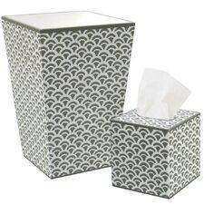 Rainbow Waste Basket and Tissue Box Set