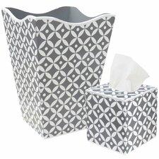 Waste Basket and Tissue Box Set