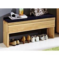 Garderobenbank aus Holz mit Stauraum