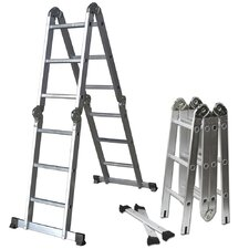 12.5 ft Aluminum Multi-Fold Ladder with 350 lb. Load Capacity