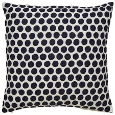 Embroidered Dot Throw Pillow
