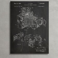 """Patent Prints """"Photographic Camera Accessory"""" Graphic Art on Wrapped Canvas"""