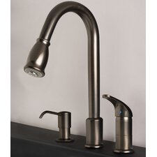 Single Handle Deck Mounted Kitchen Faucet with Soap/Lotion Dispenser