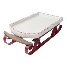 Holiday Serving Sleigh Platter