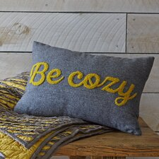 'Be Cozy' Lumbar Pillow