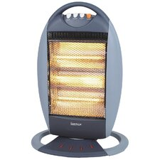 Halogen 1,200 Watt Portable Electric Infrared Compact Heater