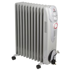 Oil Filled 2,500 Watt Portable Electric Radiator Heater with 24H Timer