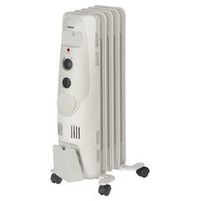 Oil Filled 1,200 Watt Portable Electric Radiator Heater