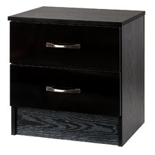 Marina 2 Drawer Bedside Table