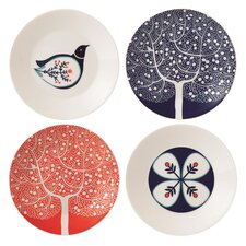 Boxed 4 Piece Plate Set