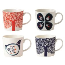 Boxed 4 Piece Mug Set