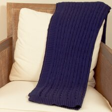 Cable Car Knit Cotton Throw