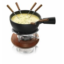 Pro Nero Ceramic/Stainless Steel Fondue Set