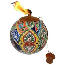 Mexican Clay Pottery Oil Lamp