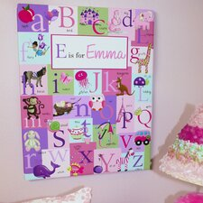Alphabet Personalized Graphic Art on Wrapped Canvas