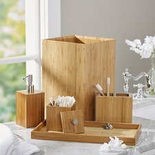 Defoe Bamboo 5 Piece Bath & Vanity Set