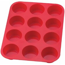 12 Cup Silicone Muffin and Cupcake Pan