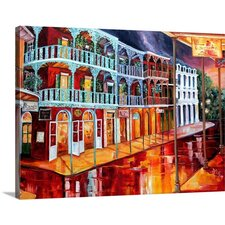 'Reflections in Red' by Diane Millsap Painting Print on Canvas