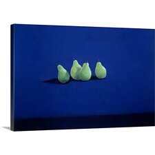 Pears on a Cloth by Lincoln Seligman Painting Print on Canvas