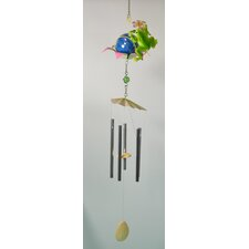 Frog Metal with Gazing Ball Wind Chime