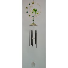 Frog Round Metal with Bead Wind Chime