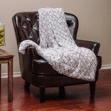 Super Soft Cozy Diamond Shape Embossed Beige Creme White Gray Fuzzy Fur Warm Throw Blanket