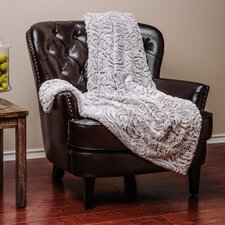 Super Soft Cozy Flower Shape Embossed Beige Creme White Gray Fuzzy Fur Warm Throw Blanket