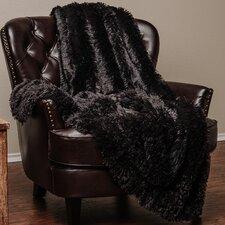 Super Shaggy Elegent Sherpa Long Fur Throw Blanket