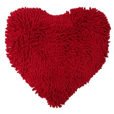 My Heart Shaggy Throw Pillow