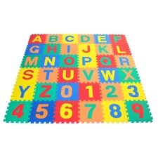 Alphabet Letter and Counting Numbers Soft Foam Learning Waterproof Playmat