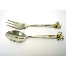 2 Piece Bee Baby Spoon / Fork Set (Set of 2)