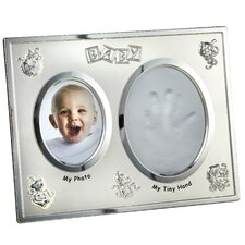 Baby with Hand Print Opening Picture Frame