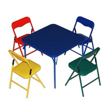 childrens 5 piece square table and chair set