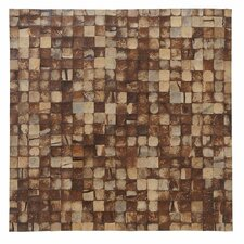 "Artistica 16.54"" x 16.54"" Coconut Shell Mosaic Tile in Natural Bliss - Mini"