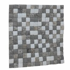 "Kelapa 16.54"" x 16.54"" Coconut Shell Mosaic Tile in Tumbled Medley"